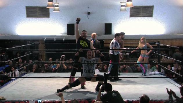COLE STEEN COLE vs. Candice LeRae & Joey Ryan
