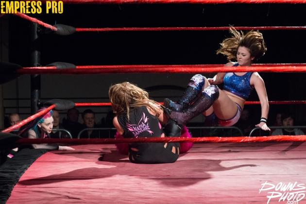 Nadia Sapphire (with Faith Lehaine) vs Nixon