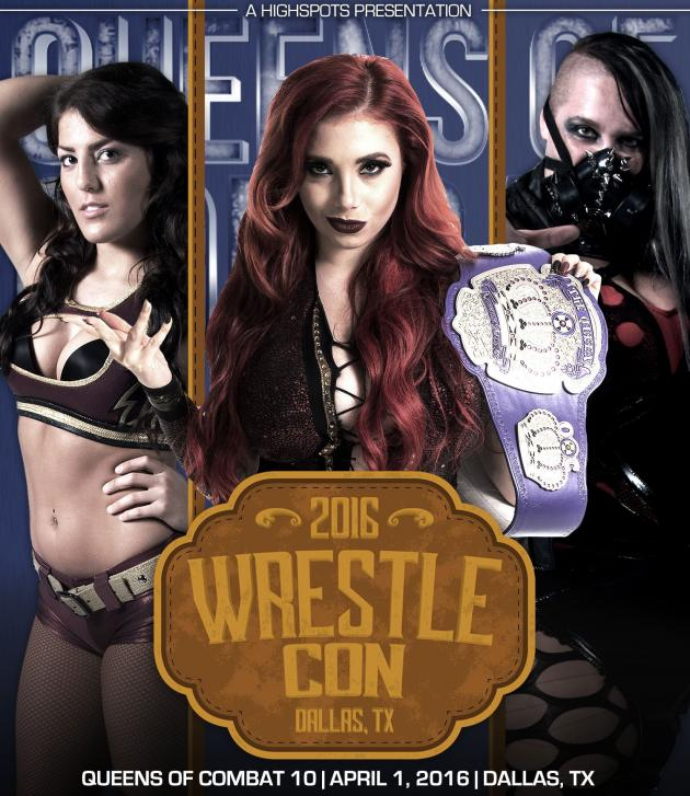 QUEENS OF COMBAT 10 WRESTLECON